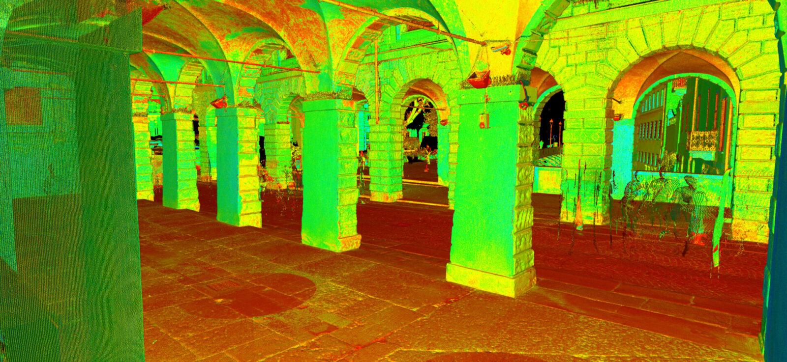 Pescherie di Giulio Romano Mantova Laser Scanner