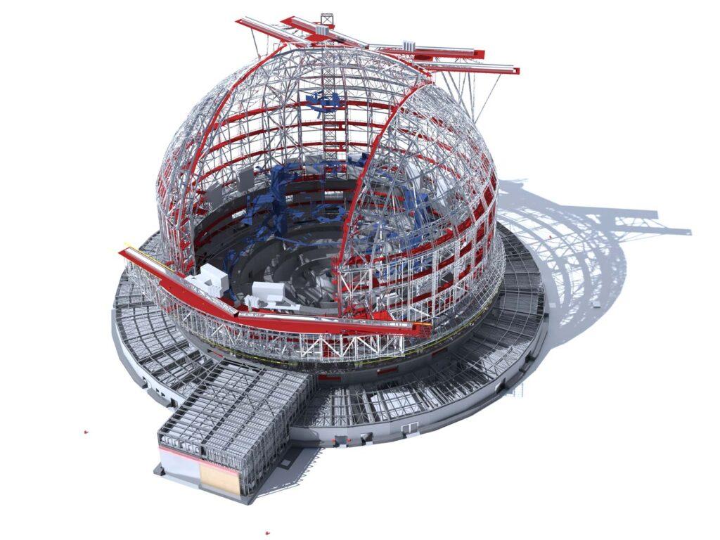 ELT, Extremely Large Telescope, Render tecnico