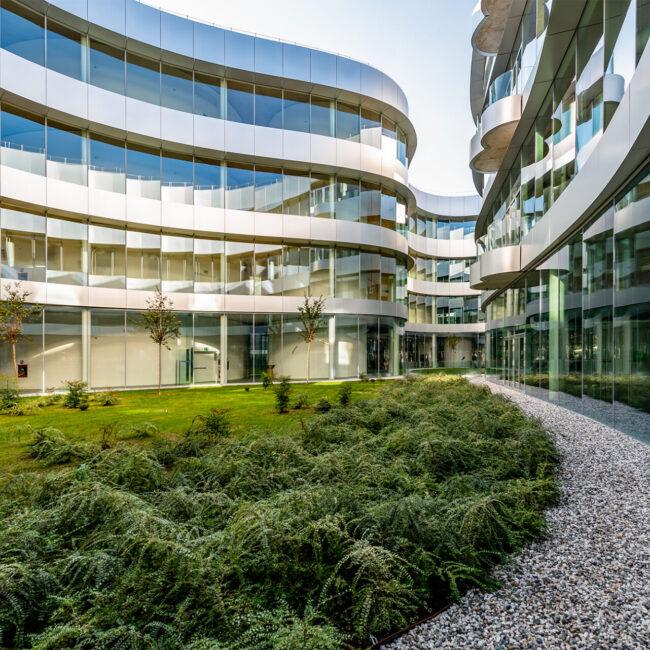 Campus Bocconi Milano, Cantiere 4.0, mockup digitale. modello BIM